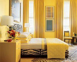 Rèm cửa màu vàng cho người mệnh thổ
